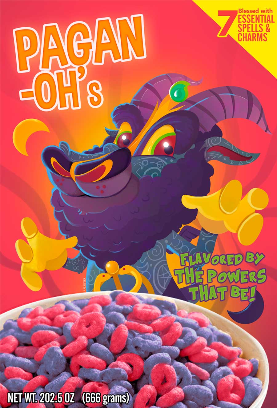 FElvast - Pagan-ohs cereal box